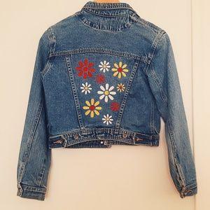 Vintage Denim Floral Jacket